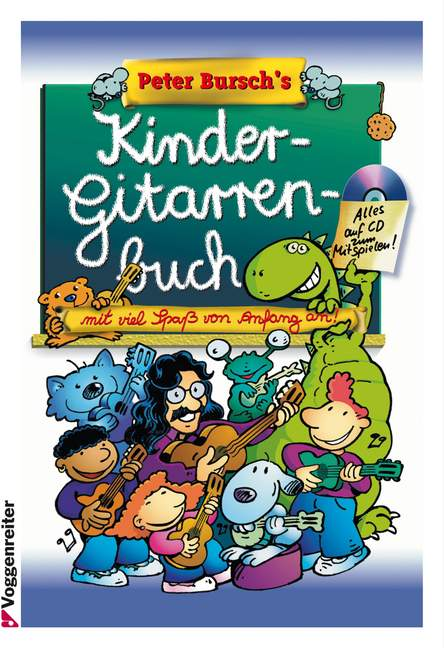 PB-039-s-Kindergitarrenbuch-Bursch-Peter-edition-with-CD-guitar